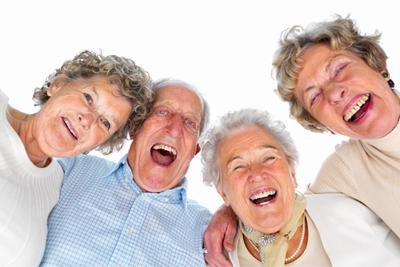 Calidad de vida en la tercera edad, personas sonrientes
